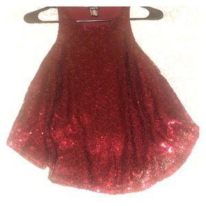 Ruby red Sequence flow tank top!
